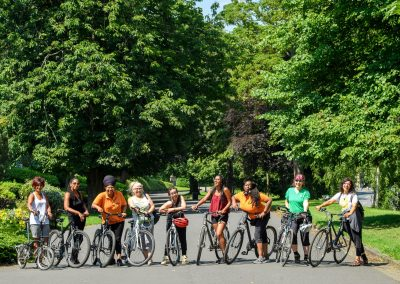 group of hop-on bradford cyclists